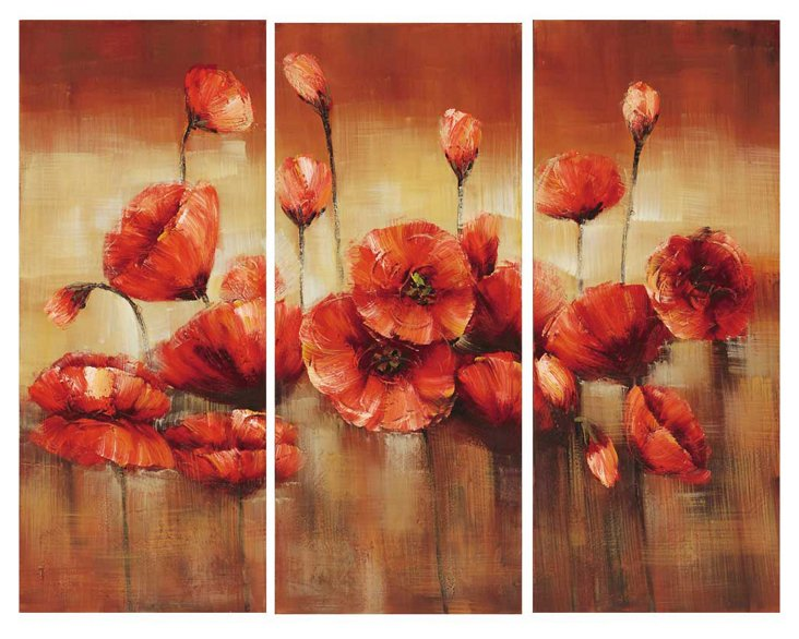 Poppies Triptych