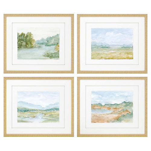 Cotswald Watercolors, Set of 4