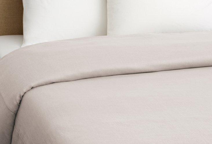Vintage-Wash Tailored Duvet, Dawn