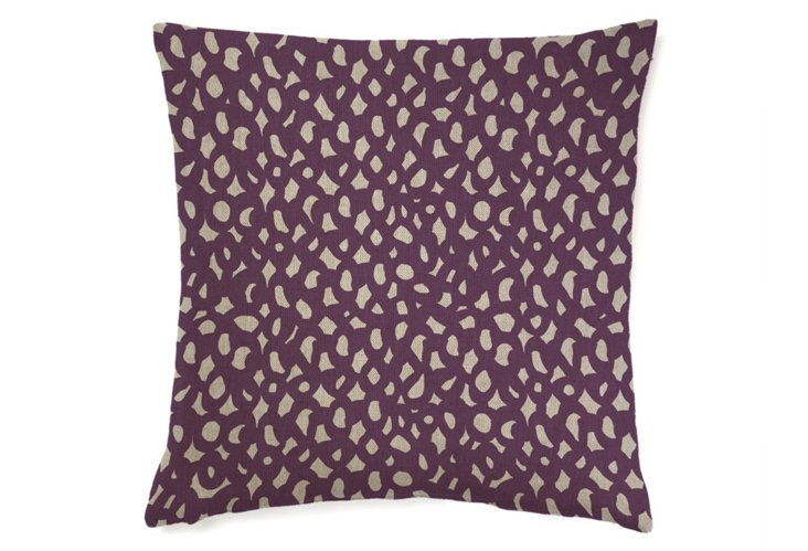 Links Abstract 20x20 Pillow, Merlot