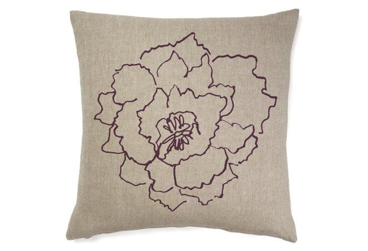 Chou Fluer 20x20 Pillow, Merlot