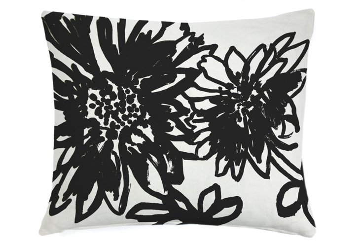 Sunflower 16x20 Pillow, Black