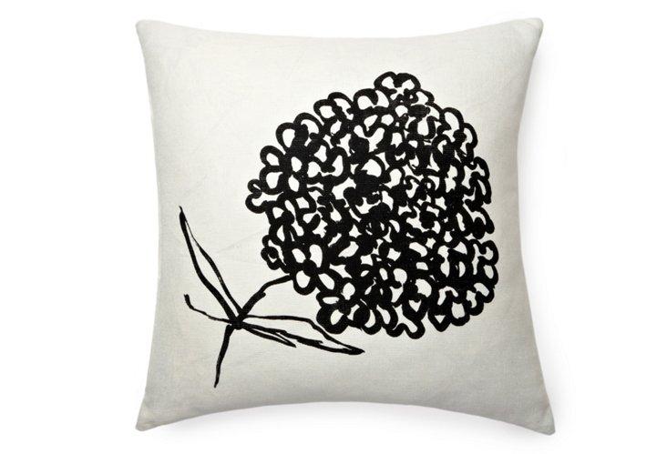 Cheri Sketch 20x20 Pillow, Black