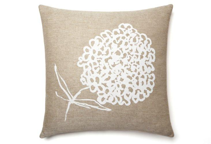 Cheri Sketch 20x20 Pillow, White