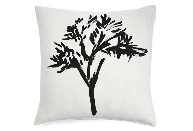 Wisp Branch 20x20 Pillow, Black