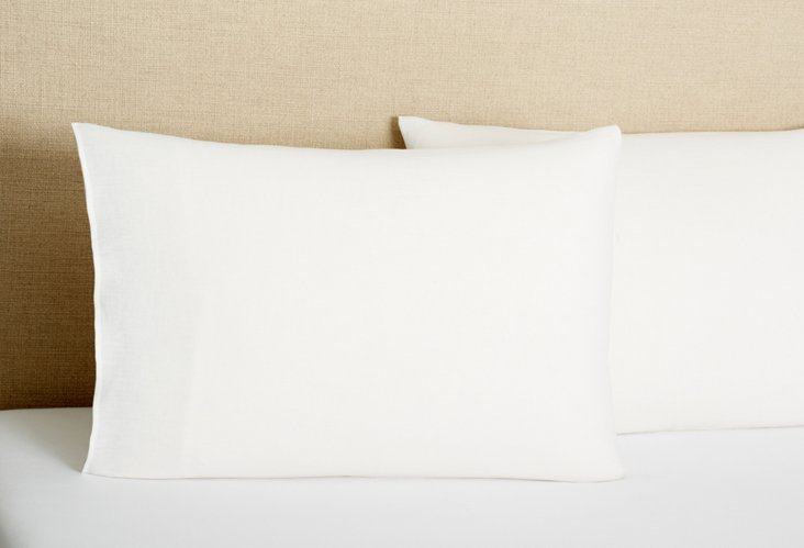 S/2 Tailored  Pillowcases, Cream