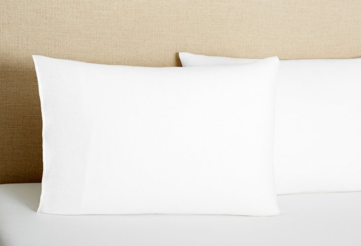 S/2 Tailored Pillowcases, White