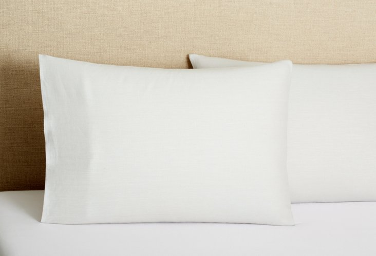 S/2 Tailored  Pillowcases, Lilac Gray