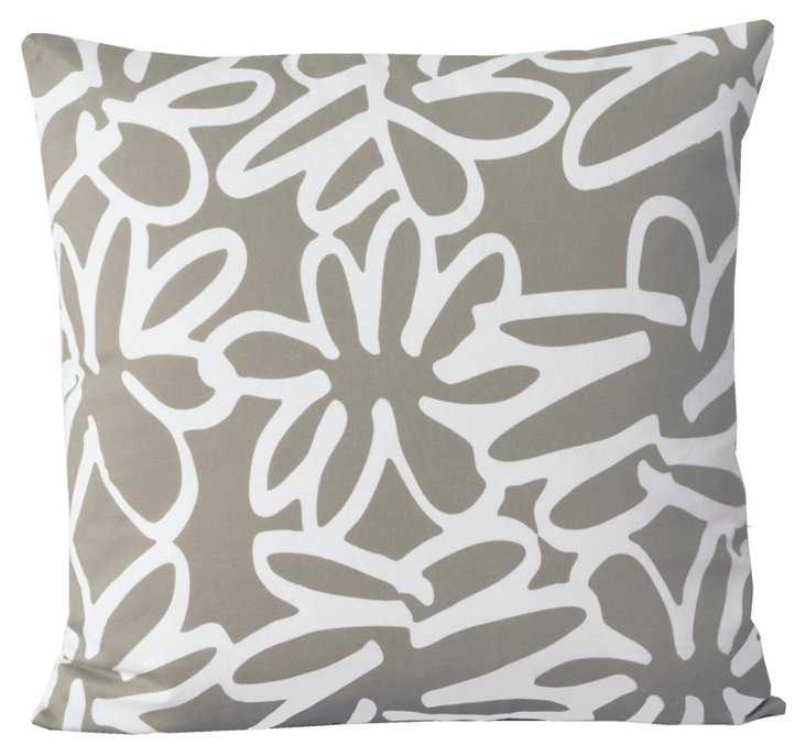Daisy 20x20 Pillow, Khaki