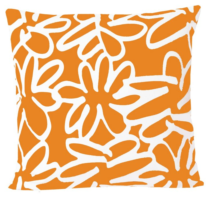 Daisy 20x20 Pillow, Orange