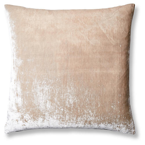 Silk Velvet 24x24 Pillow, Natural Velvet