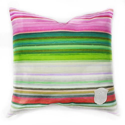 Chromatic 18x18 Linen Pillow, Pink