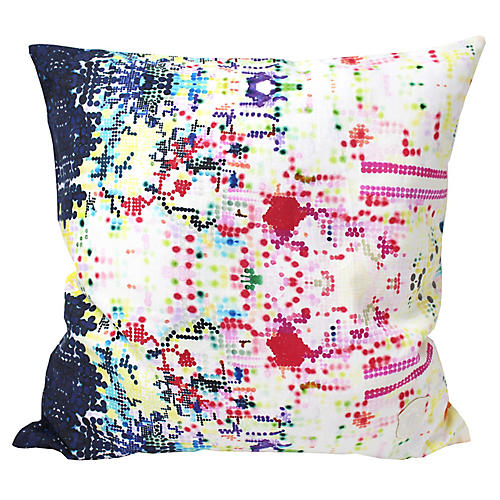 Pixelated 18x18 Linen Pillow, Pink