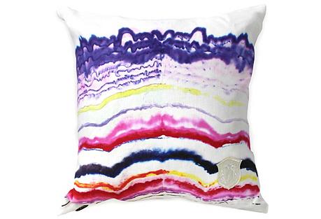 Rockstar 18x18 Linen Pillow, Blue