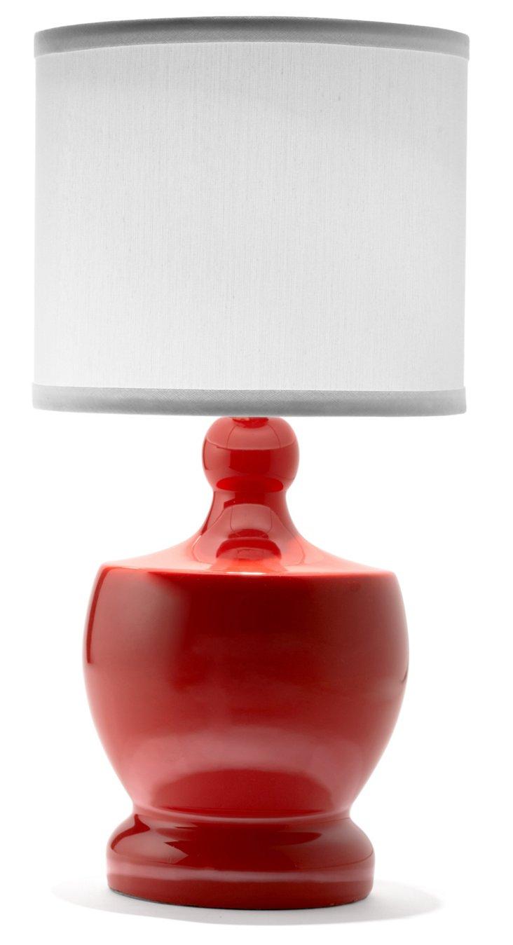 Mini Ceramic Table Lamp, Red