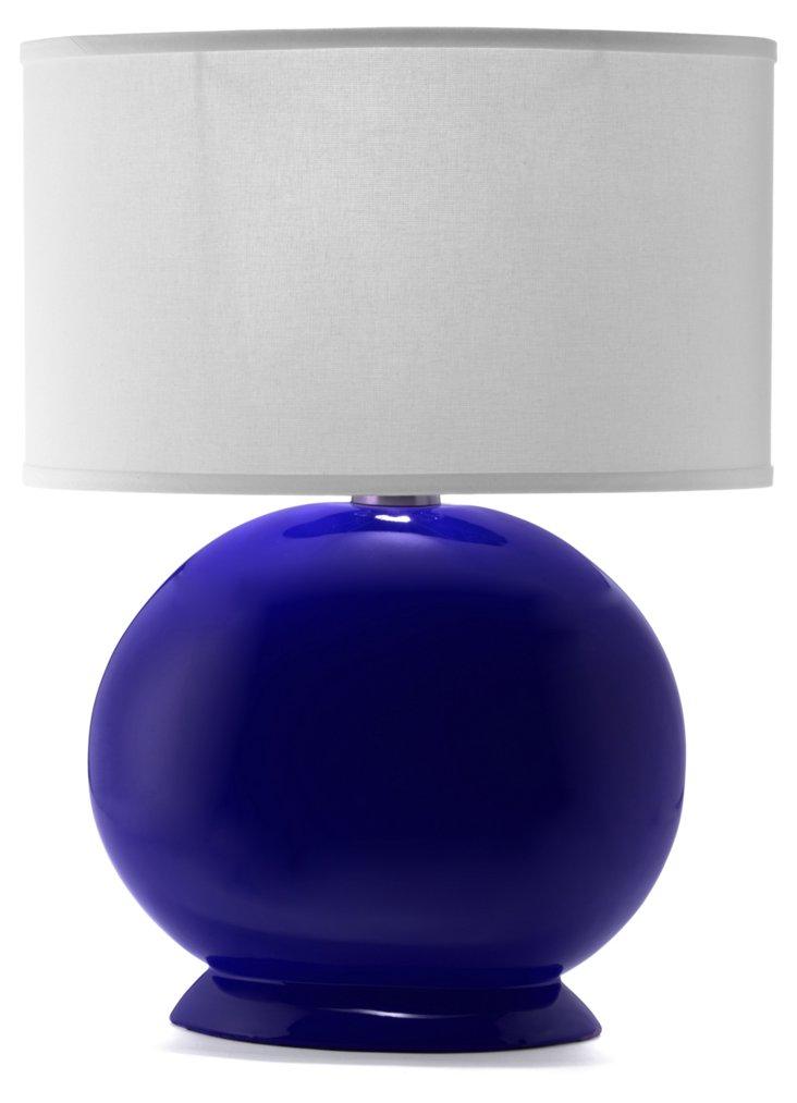 Ceramic Lynn Table Lamp, Royal Blue