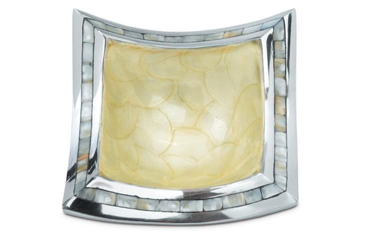 Mother-of-Pearl Square Bowl