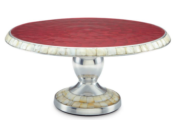 "Classic Cake Stand, 14"" Pomegranate"