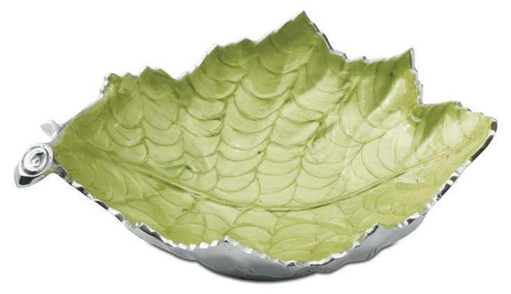 Grape Leaf Bowl, Green