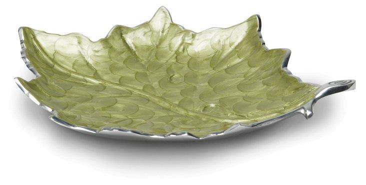 Grape Leaf Platter, Green