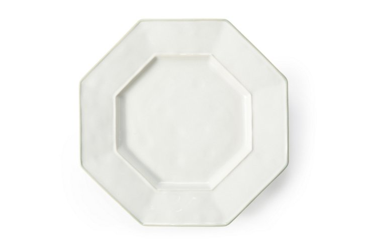 S/4 Octavia Dessert Plates, White