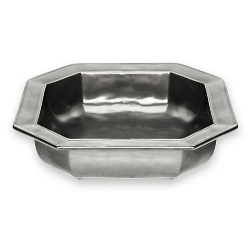 Square Pewter Baker, 10.5""