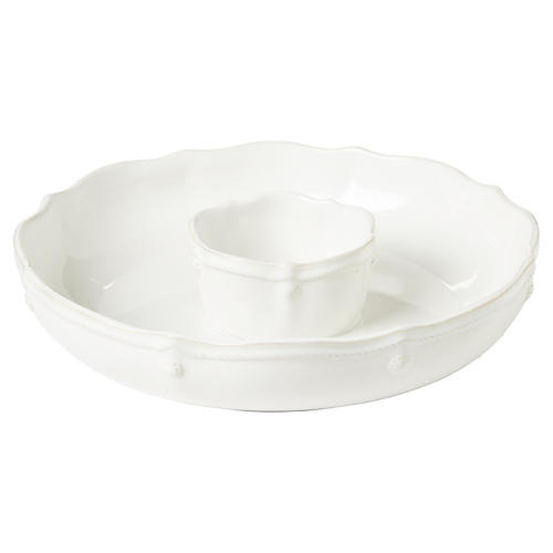 Berry & Thread Chip 'n Dip, White