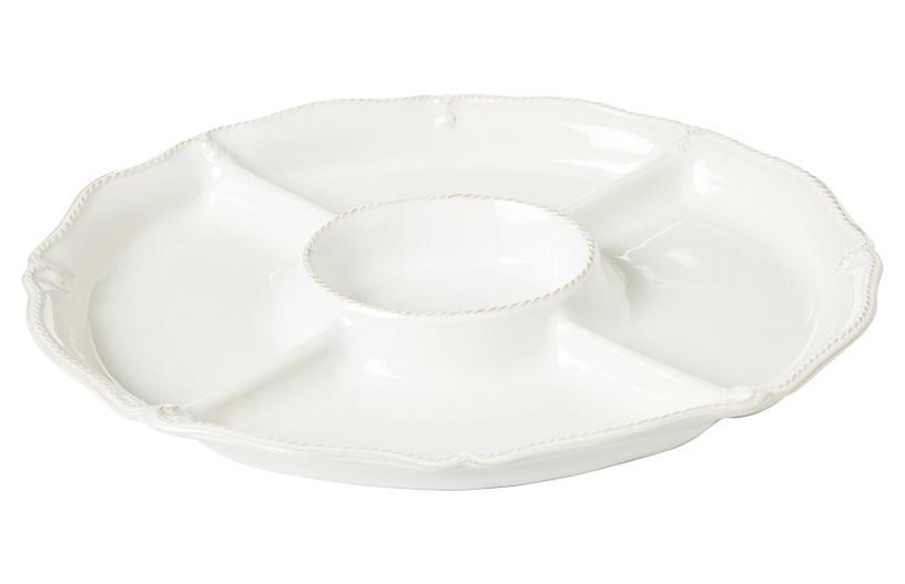 Berry & Thread Crudité Platter, White