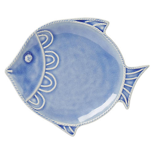 "Berry & Thread Crackle ""Fish"" Plate"