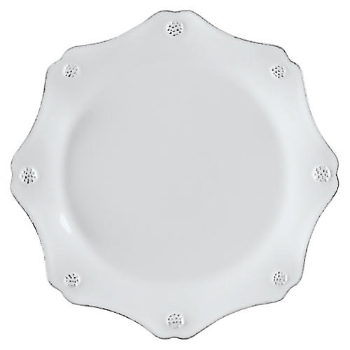 Berry & Thread Scalloped Dessert Plate, White