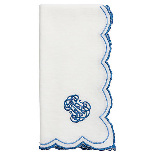 Heirloom Napkin, Delft Blue/White