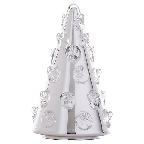"8"" Florence Silver Bohemian Glass Tree"