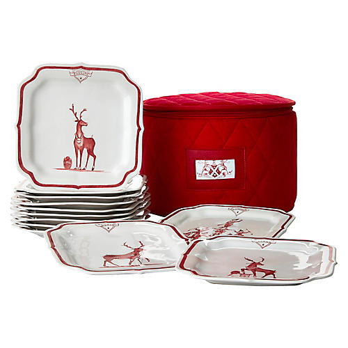 S/12 Country Estate Reindeer Plates