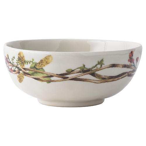 """6"""" Forest Walk Berry Bowl, Ivory/Multi"""
