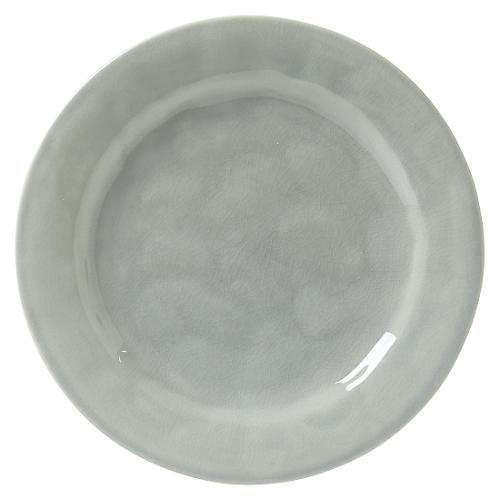 Puro Crackle Salad Plate, Mist Gray