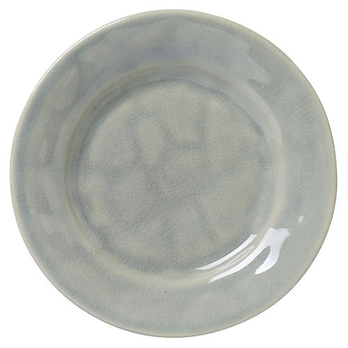 Puro Crackle Side Plate, Mist Gray