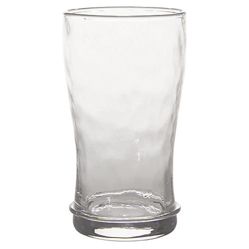 Carine Beer Glass, Clear