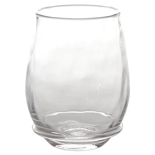 Carine Stemless White-Wine Glass, Clear