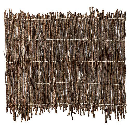 Genuine Twig Place Mat, Brown
