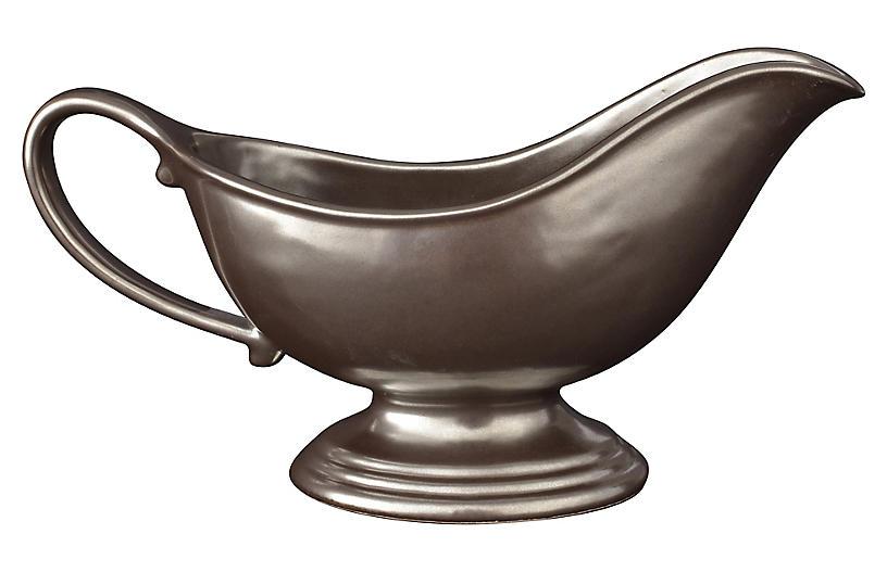 10 Oz Stoneware Sauce Boat - Pewter - Juliska