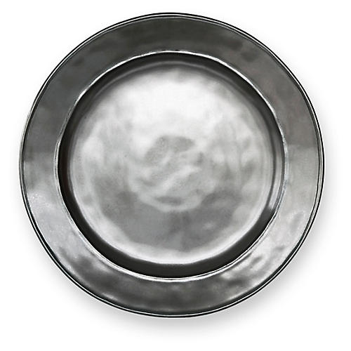 Stoneware Dinner Plate, Pewter