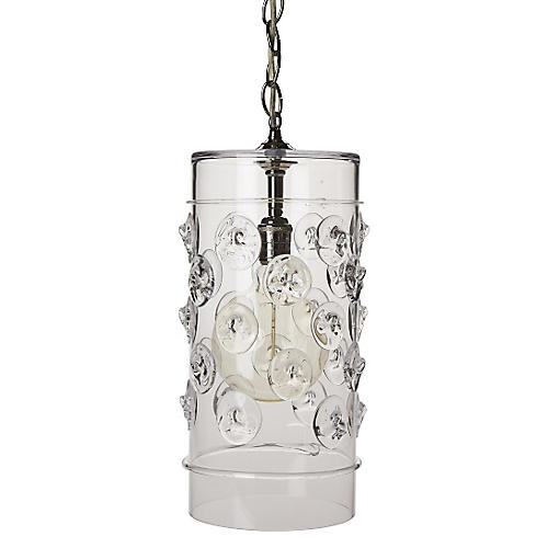 Florence Column Pendant, Brushed Nickel