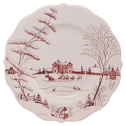 Country Estate Winter Dinner Plate