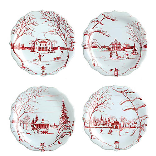 S/4 Country Estate Winter Party Plate