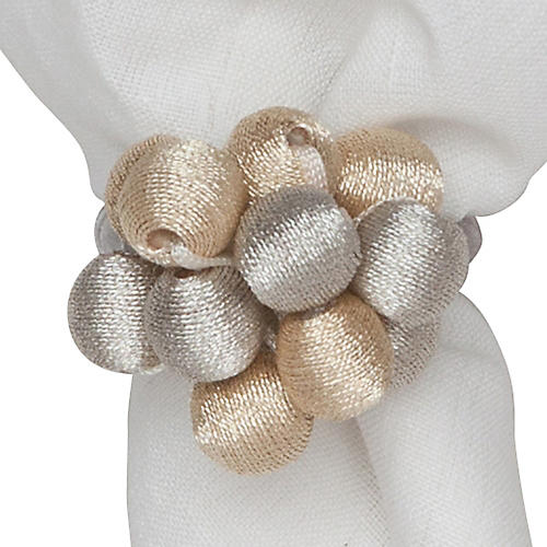Metallic Bead Bouquet Napkin Ring