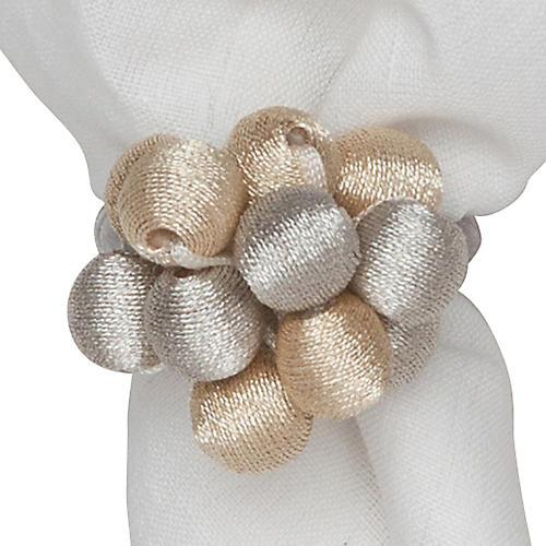 Metallic Bead Bouquet Napkin Ring