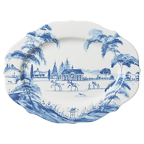 Stable Serving Platter, Delft Blue
