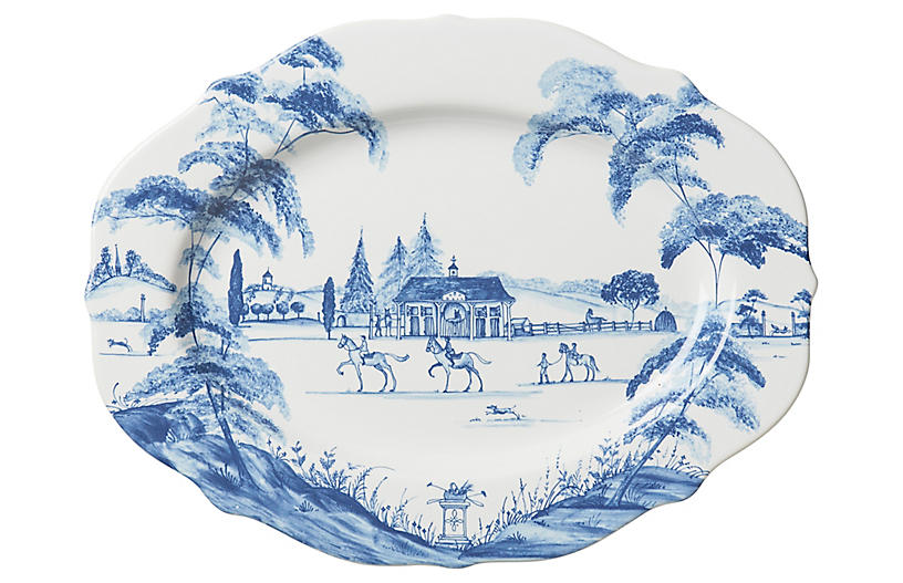 Stable Serving Platter, Delft Blue