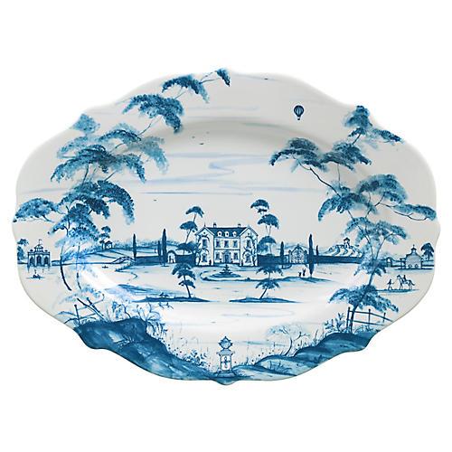 Main House Serving Platter, Delft Blue