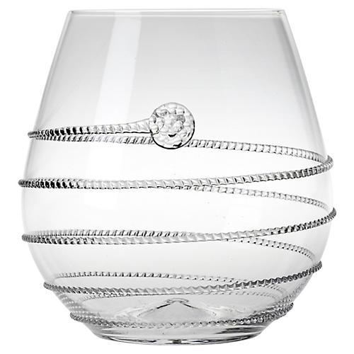 Amalia Stemless Red-Wine Glass, Clear